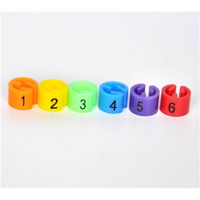 Size Marker for Hangers, Set 3 (1,2,3,4,5,6)