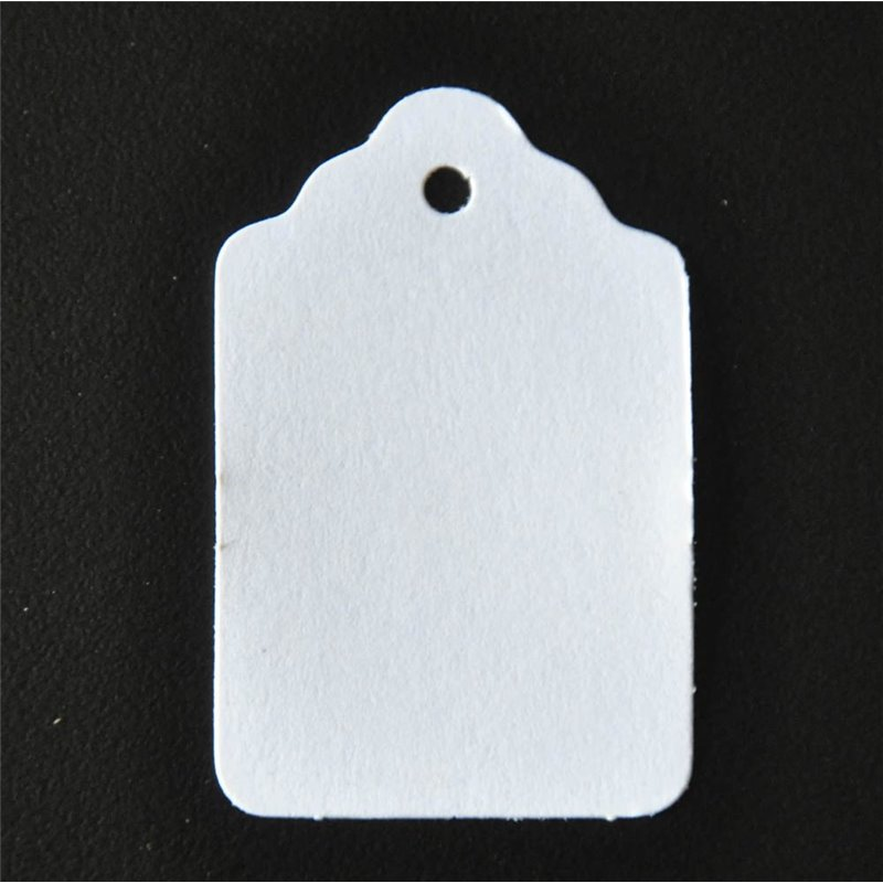 Paper Tags Lace Edged White, pack of 1000