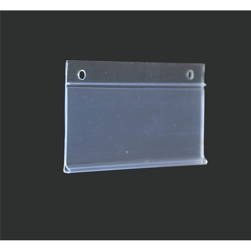 Hanging Data Strip 35 x 100 mm Clear