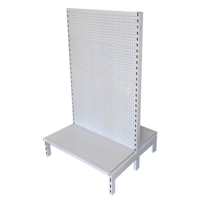 Double Sided Pegboard Gondola White