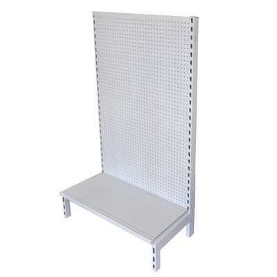 Single Sided Pegboard Gondola White