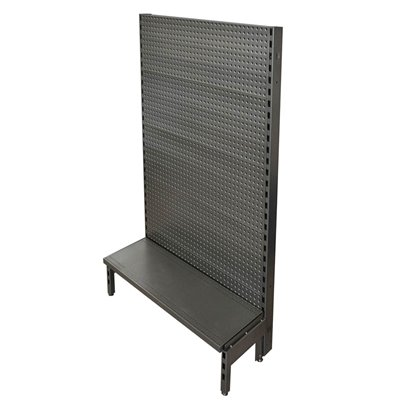 Single Sided Pegboard Gondola Black/Hammertone
