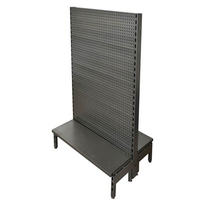 Double Sided Pegboard Gondola Black/Hammertone