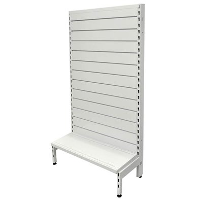 Single Sided Metal Slatwall Gondola White