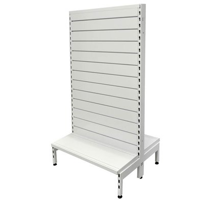Double Sided Metal Slatwall Gondola White