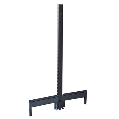 Gondola Shelving Double Post Black/Hammertone