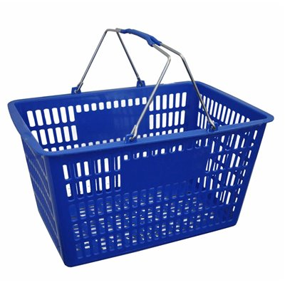 Plastic Shopping Basket 29L Blue