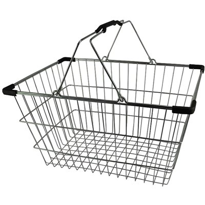Wire Shopping Basket 28L Chrome Plated