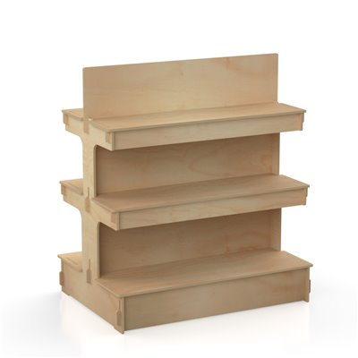 Timber Shelving Gondola WATERFALL