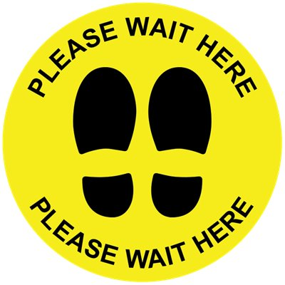 Pack of 14 - 250mm Yellow Floor Marking Sign Sticker