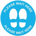 Pack of 14 - Green Floor Marking Sign Sticker