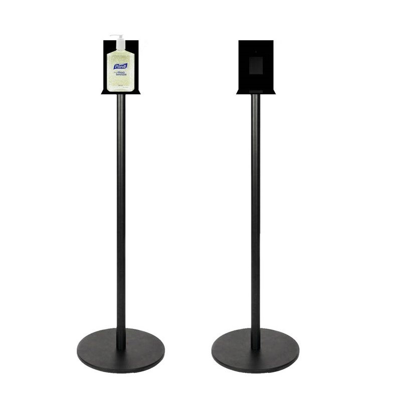 Hand Sanitizer Stand Black