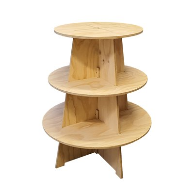 Timber Shelving Display TREE 3 Tier