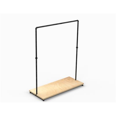 MARIO Single Clothes Rack with Shelf Black