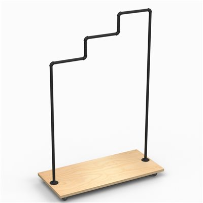 MARIO Stepped Clothes Rack Type A - Black