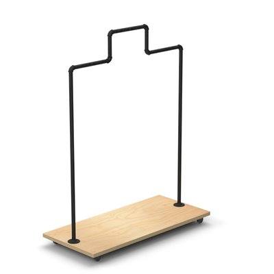 MARIO Stepped Clothes Rack Type B - Black