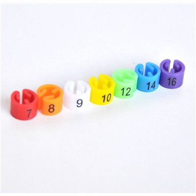 Size Marker for Hangers, Set 4 (7,8,9,10,12,14,16)