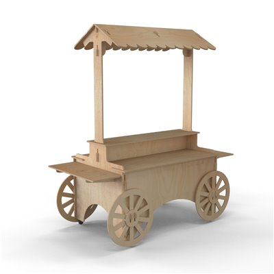 Timber Display Unit WAGON