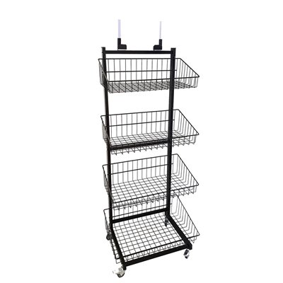 Wire 4 Basket Stand Black