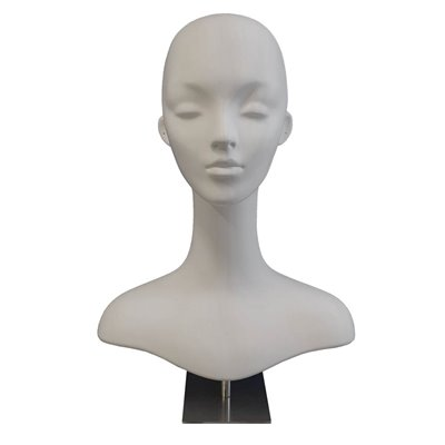 Head Display ST3 Mannequin Female Plastic WHITE