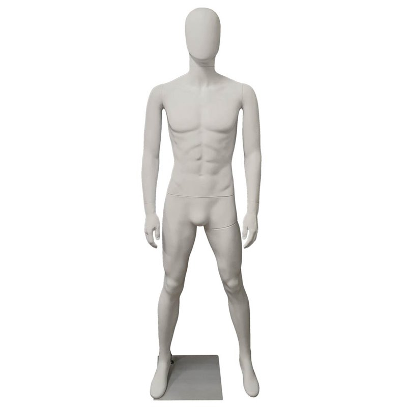 Premium Male Mannequin M10 White Matt - Egg Face