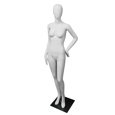 Premium Female Mannequin F26 Gloss White - EGG Face