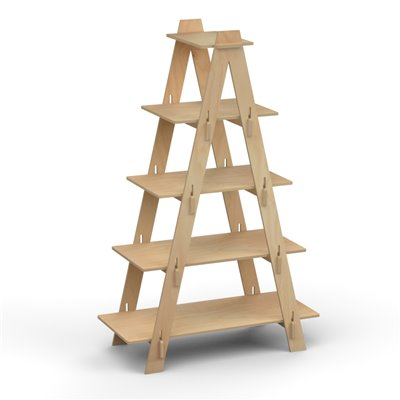 Wooden LADDER Display Shelf Double Sided