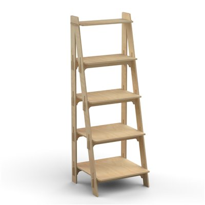 Wooden LADDER Display Shelf Single Sided