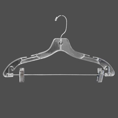 Clear Plastic Combination Hanger with clips