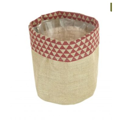 Grocery Display lined hessian Basket