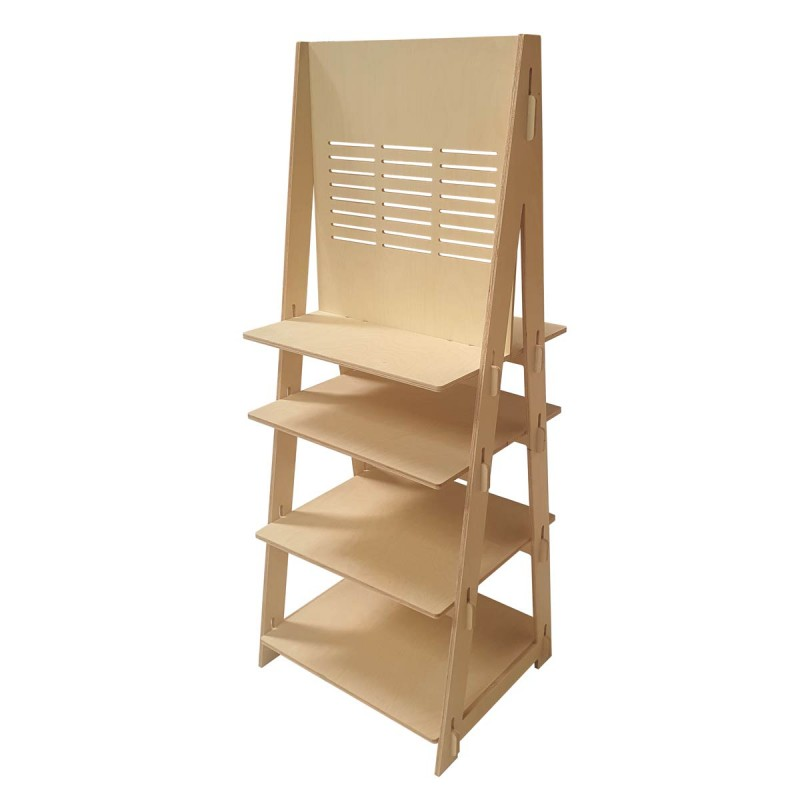 Timber Display Stand Double sided BYRON
