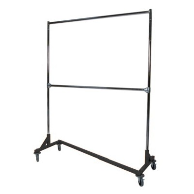 Double Bar Heavy Duty Z Clothing Rack