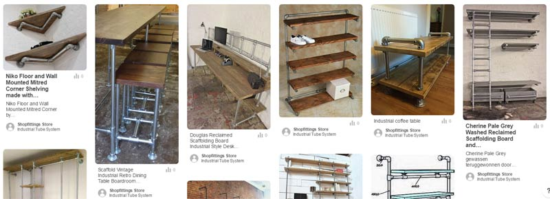 Industrial racking on Pinterest