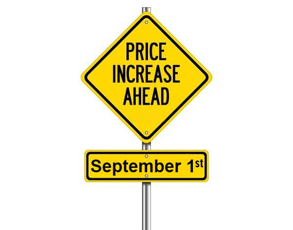 Price Increase Ahead